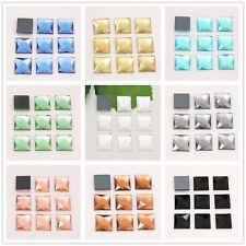 New 20PCS 10 x 10MM Square Glass Rhinestone Flat back DIY Transparent gray Z1
