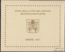 Vatican 2017 fleur de coin Amtlicher set de piecessatz 2017 Euro-Nachauflage