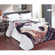 Photo Print Mink Blanket Queen Wolf 220 x 240 cm by IDC Homewares