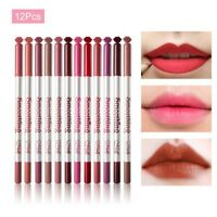 12pcs/Set 12 Colors Professional Lipliner Makeup Waterproof Lip Liner Pencil HOT