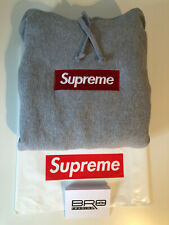 Supreme Box Logo Hoodie Grey (Bogo) Medium