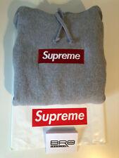 Supreme Box Logo Hoodie Grey FW16 Size L