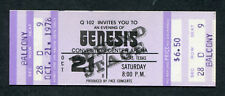 Genesis 1978 unused concert ticket Dallas TX Phil Collins Mike Rutherford Banks