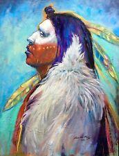 Original Oil painting American Indian Western ART Contemporary Medicine Man