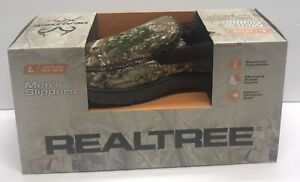Realtree Men's Size Large 9.5 - 10.5 Camouflage Slippers Brand NEW