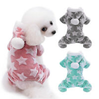Dog Cat Pajamas Pet Warm Jumpsuit Puppy Chihuahua Winter Sleeping Hoodie Clothes