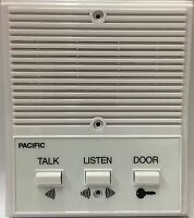 Jeron 2001 Vintage Apartment Intercom Station Three Buttons Talk Listen Door NOS