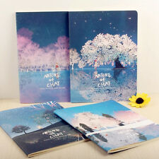 """""""Nature Chat"""" Exercise Book Pack of 4 Lined Notebook Journal Cute Study Planner"""
