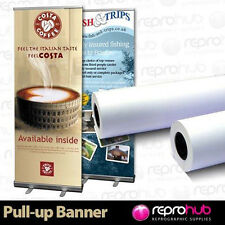 1 Roll Pull Up / Roller Banner Exhibition Display Media 220 micron 914mm x 30m