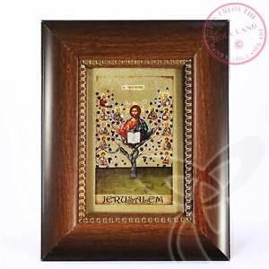 Leinwand Druck Ikone 12 Aposteln Weinstock geweiht handarbeit Holz Rahmen 1520