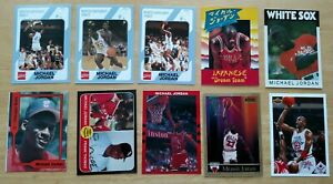 LOT OF 10 MICHAEL JORDAN CARDS COLLEGE, UPPER DECK, SKYBOX, PROMOS