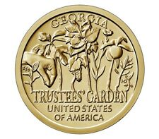 2019 D MINT Uncirc Georgia American Innovation Dollar TRUSTEES' GARDEN  1730s