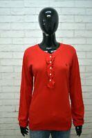 RALPH LAUREN Donna Maglia Blusa Manica Lunga Taglia XL Polo Shirt Women's Casual