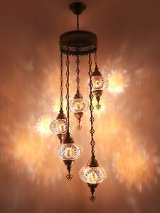Turkish Mosaic Lamp Chandelier Big 5 Globe