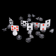 High quality transparent plastic stand for 2mm paper card, board game component.