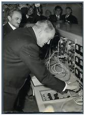 "France, Président Coty inaugure ""Saturne"" Vintage silver print Tirage argentiq"