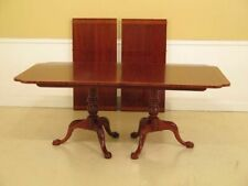 Lf37592: Hickory Chair Co. Clawfoot Mahogany Dining Room Table