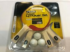 Family Table Tennis Set Ping Pong Kids Children Paddles Rackets Bats Home Play