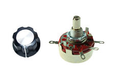 2X Variable Resistor 470K Ohm 2W Rotary Wirewound Pots Potentiometer with Knob
