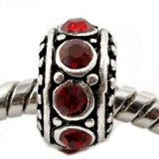 January Birthstone Charm Beads Charm Compatible with European Snake Chain Charm