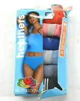 New Fruit of the Loom Women's 6 Pack Size Large Low Rise Briefs Heathers