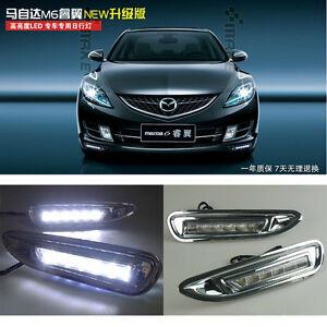 2pcs x Driving LED DRL Daytime Running Lamp Light For Mazda 6 RUIYI 2006-2010