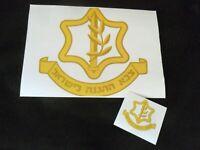 Idf Zahal Large Paper Sticker Military. Israeli Army Sign Symbol logo Insignia