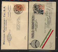 Mexico 2 ad covers to Us Kl0122