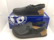 BIRKENSTOCK Womens Tokio BS Black Leather Clogs Shoes Sz 6 EU37 ZB6-1214