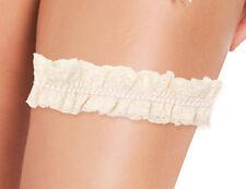 PLEASURE STATE White Label Violet Lacey Garter BNWT
