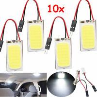 10X Weiß 48 SMD COB LED T10 4W 12V Auto Innenleuchte Licht Dome Lampe Birne
