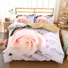 3D Rose Bed Linens Set Polyester Cotton Bed Set Duvet Cover  Bedclothes Bedding