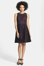 Stunning Black Eyelet Over Hot Pink Fit-&-Flare Cocktail Dress from Nordstrom 14
