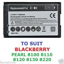 Blackberry Pearl 8100 8110 8120 8130 8220 1200mAh CM-2 Replacement Battery CM2