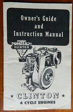 Vintage 1954 Clinton 4 Cycle Owners Manual & Paperwork