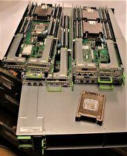 Fujitsu Primergy CX400 S2 Server 4x CX2550 M1 8 x Xeon E5-2680v3 CPU 16x RAM 8GB