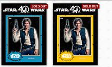 Topps Star Wars Card Trader Trader 40th Anniversary Set w/ Blue & Gold Han Award