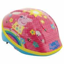 OFFICIAL PEPPA PIG SAFETY HELMET GIRLS PINK ADJUSTABLE SIZE DIAL 48cm-54cm