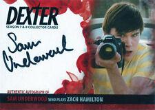 Dexter Seasons 7 & 8 Autograph Card ASU2 Sam Underwood as Zach Hamilton