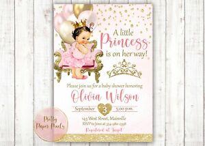 Princess Baby Shower Invitation, Balloons, Princess, Baby Girl, Shower, Baby