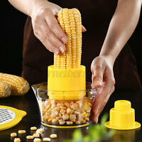 2 In 1 Corn Slicer Peeler Cup Kitchen Cob Cutter Stripper Remover Thresher Tools