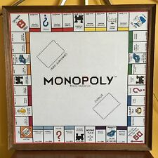 MONOPOLY BOARD HANDMADE NEEDLEPOINT LIFE SIZE WALL ART DECOR GAME ROOM VTG