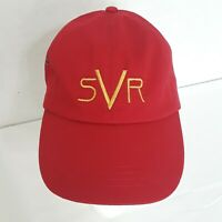 Red Stevie Ray Vaughan SRV Cap Adjustable SVR Embroidered Hat Clean Unused