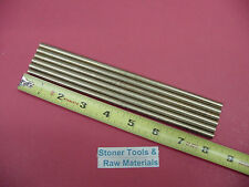 """6 Pieces of 1/4"""" C360 BRASS SOLID ROUND ROD 8"""" long .250"""" Lathe Bar Stock"""