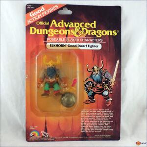 D&D Advanced Dungeons & Dragons Elkhorn Good Dwarf Fighter LJN TSR carded figure