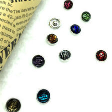 NEW 10Pcs12mm Mix coler Charm Chunk Snap Button fit for Noosa Leather Bracelets!