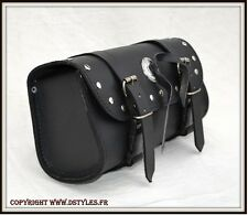 Sacoche Cuir pour moto - NEUF - leather Tool bag custom motorcycle harley shadow