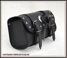 Sacoche Cuir pour moto - NEUF - leather Tool bag custom motorcycle harley shadow