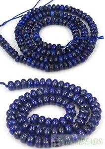Natural Lapis Lazuli Gemstone Rondelle Beads 16'' Strand 5mm 6mm 8mm 10mm 12mm