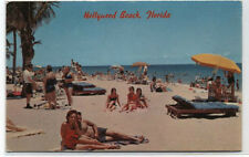 Hollywood by the Sea Beach,Florida Postcard